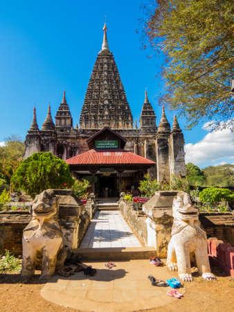 View of the Mahabodhi Temple in Bagan, Myanmar