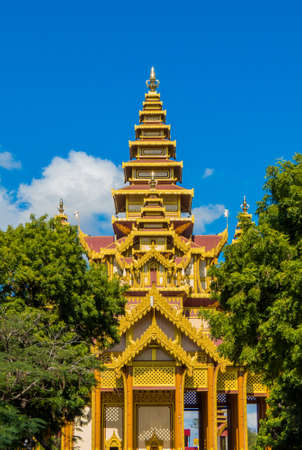 View of the Bagan Golden Palace. In Bagan, Myanmar