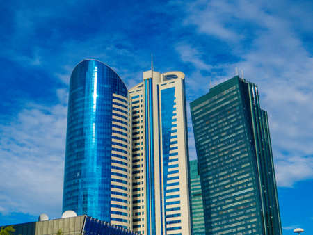Modern skyscrapers in Nur-Sultan (Astana), Kazakhstan