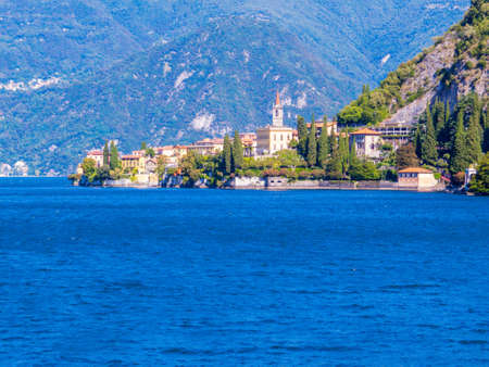 View of the village of Varenna on the Lake of Como, Italy