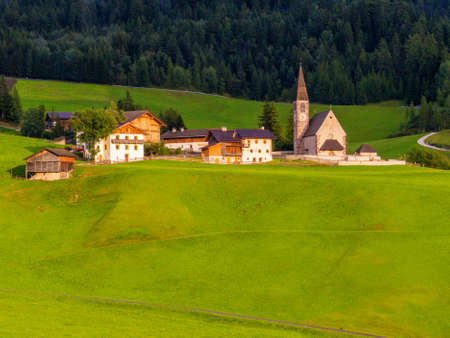 Church of Santa Maddalena (St. Magdalena), Val di Funes, South Tyrol, Dolomites, north Italy
