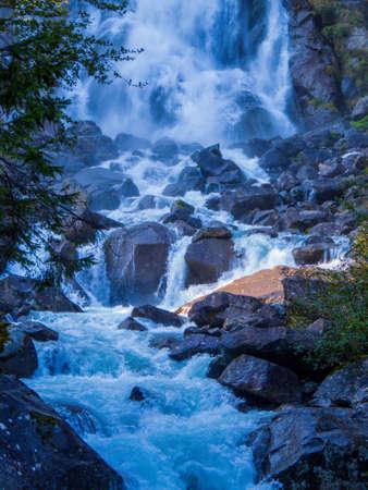 Nardis Laris Waterfalls. Adamello Brenta Nature Park, Trentino-Alto Adige, Dolomites, Italy