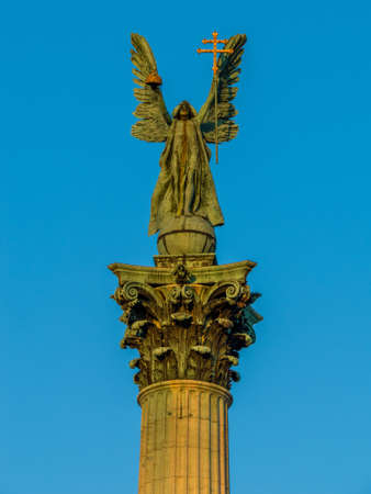 Archangel Gabriel statue, Heroes Square, Budapest, Hungary