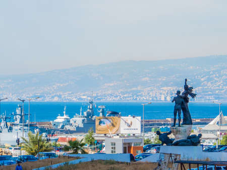 BEIRUT, LEBANON - MAY 22, 2017: View of the monument at Martyrs' Square by Italian sculptor Marino Mazzacurati. Redakční