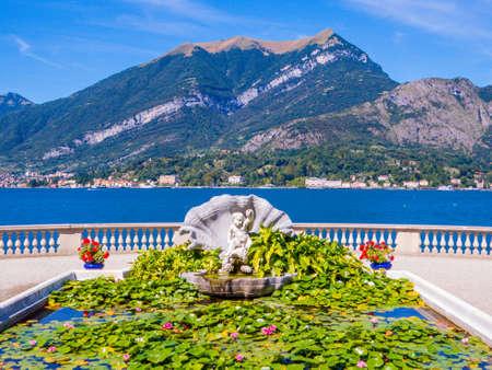 View of the Gardens of Villa Melzi in Bellagio, Lake of Como, Italy