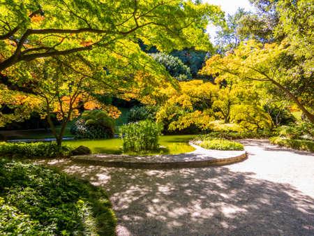 View of the Gardens of the Villa Melzi (Italian: I Giardini di Villa Melzi) in Bellagio, Lake of Como, Italy Reklamní fotografie - 151113223