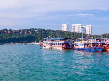 PATTAYA, THAILAND - DECEMBER 25, 2018: Boats near the Bali Hai Pier.