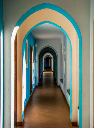 Arabic doorway arches view
