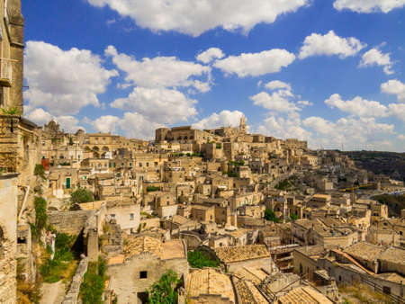 Summer view of the old town of Matera, Italy