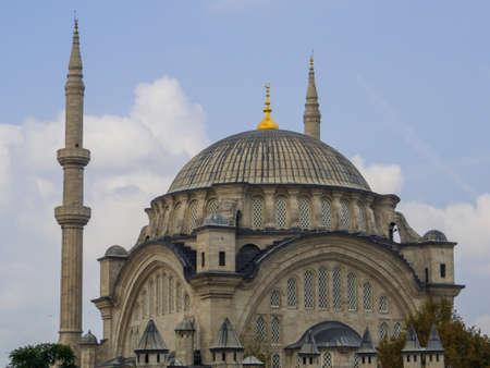 View of the Nuruosmaniye Mosque in Istanbul, Turkey