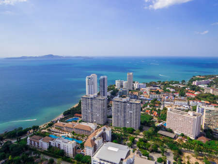 Aerial view of Pattaya, Thailand Banque d'images