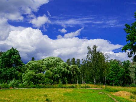 Beautiful landscape near St. Petersburg, Russia