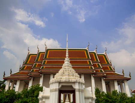 Bangkok, Thailand - January 16, 2020: View of the Loha Prasat Temple.