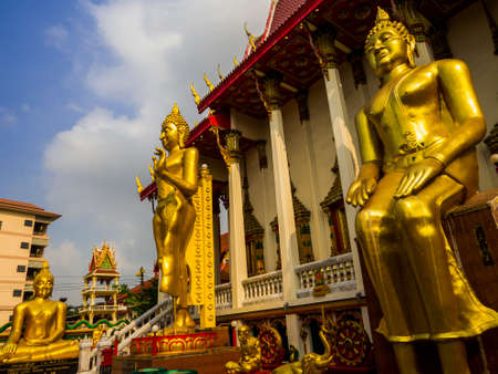 Bangkok, Thailand - January 16, 2020: View of the Wat Sitaram.