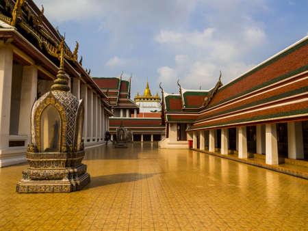 Bangkok, Thailand - January 16, 2020: View of the Wat Saket (or Golden Mount).