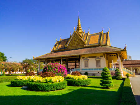 Phnom Penh, Cambodia - January 9, 2020: View of the Royal Palace.