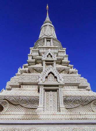 Phnom Penh, Cambodia - January 9, 2020: View of the Silver Pagoda.