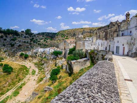 Ancient ruins in Ginosa, Apulia, south Italy