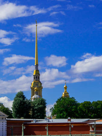 View of the Peter and Paul Fortress in St. Petersburg, Russia