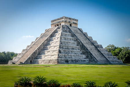 Mayan Temple of Kukulkan pyramid - Chichen Itza, Yucatan, Mexico