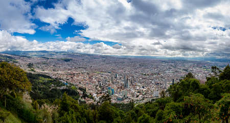Panoramic view of Bogota city, Colombia