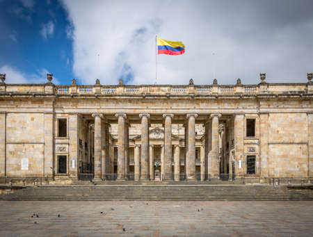 Colombian National Congress and Capitol, Bogota - Colombia Stock Photo - 74126661