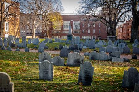 Copps Hill Burying Ground cemetery - Boston, Massachusetts, USA