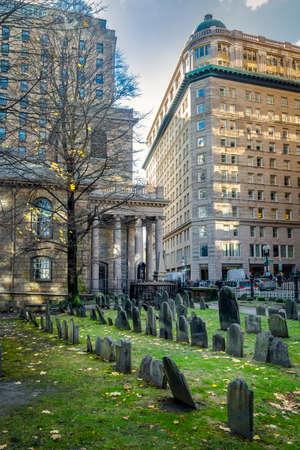 Kings Chapel Burying Ground cemetery - Boston, Massachusetts, USA
