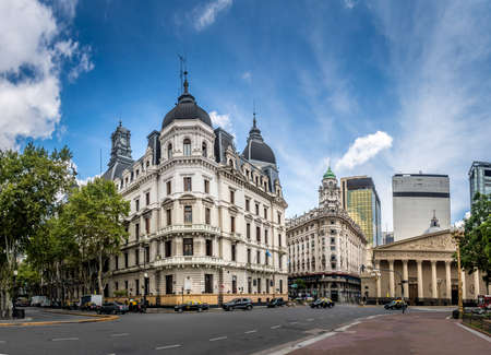 Buildings and Cathedral near Plaza de Mayo - Buenos Aires, Argentina