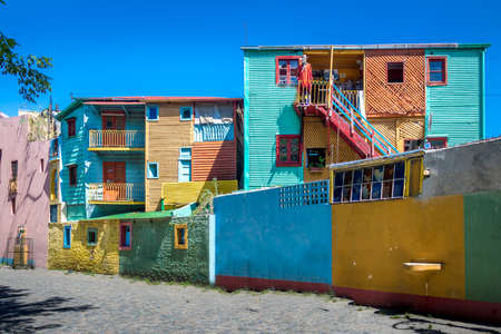 Colorful buildings of Caminito street in La Boca neighborhood - Buenos Aires, Argentina