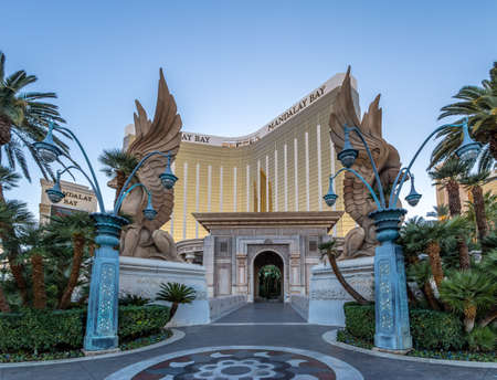 Mandalay Bay Hotel and Casino Entrance - Las Vegas, Nevada, USA