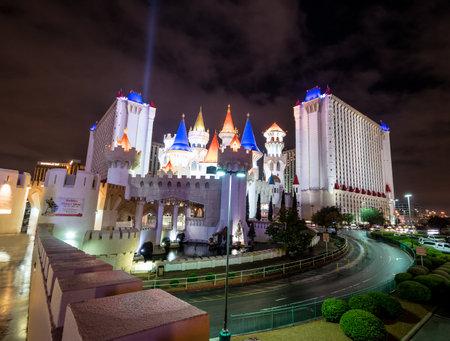 Excalibur Hotel and Casino at night - Las Vegas, Nevada, USA