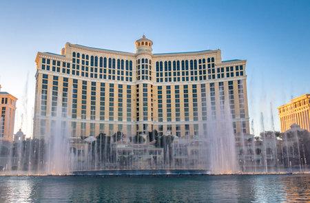 bellagio fountains: Dancing Fountains at Bellagio Hotel Casino - Las Vegas, Nevada, USA