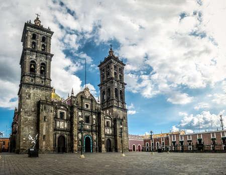 Puebla Cathedral - Puebla, Mexico Foto de archivo