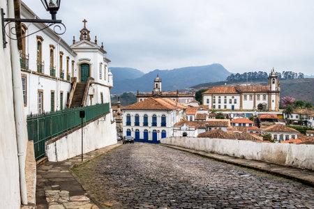 Street in city of Ouro Preto - Minas Gerais, Brazil