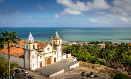 High view of Olinda and Se Cathedral - Pernambuco, Brazil 免版税图像