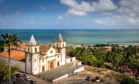Olinda 및 Se 대성당 - Pernambuco, 브라질의 높은 전망 스톡 콘텐츠