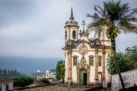 of assisi: Saint Francis of Assisi Church in Ouro Preto - Minas Gerais, Brazil