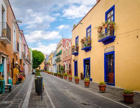 Callejon de los Sapos - Puebla, Mexico Foto de archivo