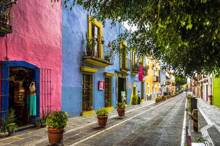 Callejon de los Sapos - Puebla, Mexico 스톡 콘텐츠
