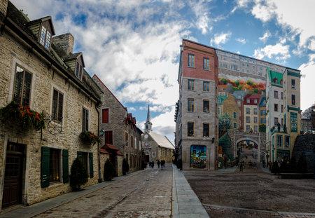 Quebec Fresh (Fresque des Quebecois) and Place Royale - Quebec City, Canada