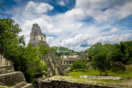 Mayan Temple I (Gran Jaguar) at Tikal National Park - Guatemala Stock Photo