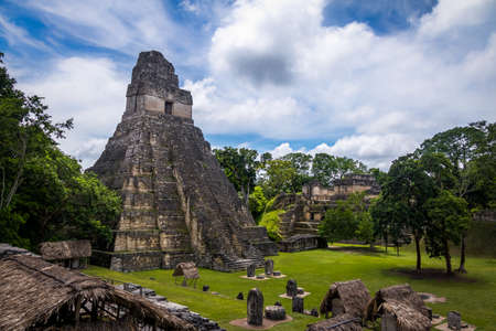 Temple I (Gran Jaguar) at Tikal National Park -Guatemala 免版税图像