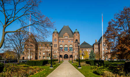 Legislative Assembly of Ontario situated in Queens Park - Toronto, Ontario, Canada Stock Photo