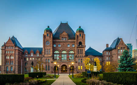 Legislative Assembly of Ontario situated in Queens Park - Toronto, Ontario, Canada