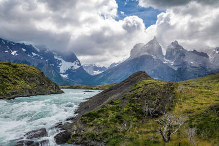 River in Torres del Paine National Park, Patagonia, Chile
