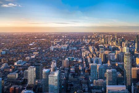 トロント, オンタリオ, カナダ - トロント市の空撮 写真素材