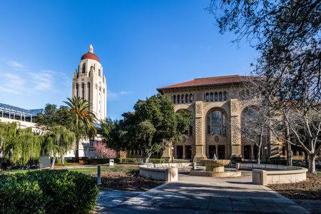스탠포드 대학 캠퍼스 및 후버 타워 - 팔로 알토, 캘리포니아, 미국