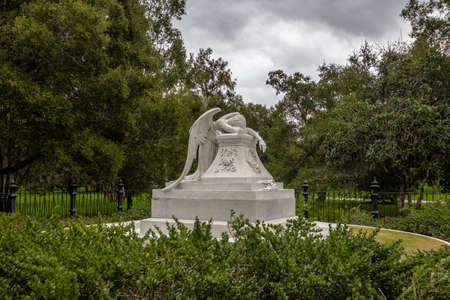 Stock Photo   The Angel Of Grief Statue At Stanford University Campus    Palo Alto, California, USA