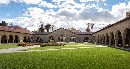 Memorial Court of Stanford University Campus - Palo Alto, California, USA Editorial